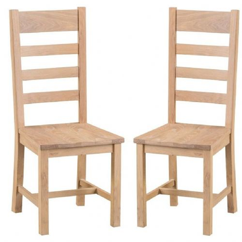 Oxford Oak Ladder Back Chair With Solid Pad